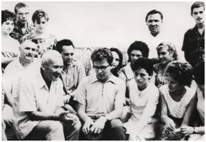 Академик А.Н. Колмогоров в лагере МАН летом 1964 года