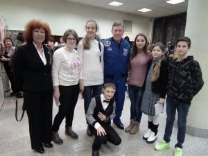 С астронавтом Майклом Фоссумом