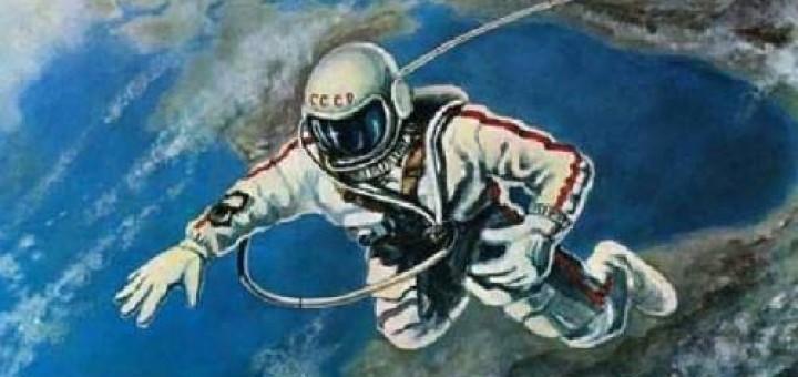 Картина выхода Леонова в открытый космос